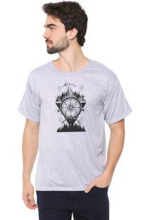 Camiseta Eco Canyon Bússola Cinza