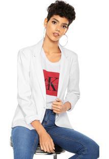 Blazer Calvin Klein Jeans Alfaiataria Botão Branco