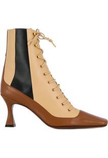 Manu Atelier Ankle Boot Com Cadarço - Marrom