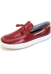 Mocassim Dockside Sapatotop Shoes Bambulim Bordo