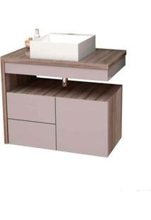 Gabinete De Banheiro Sem Cuba Aimore 57,8X70Cm Nude Com Tamarindo Cozimax