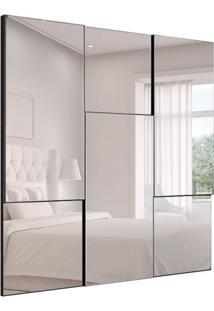 Espelho Decorativo Staten 90X90 Cm Preto