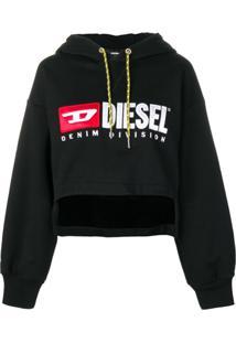 Diesel Blusa De Moletom Cropped - Preto