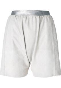 Olsthoorn Vanderwilt Shorts De Couro - Cinza