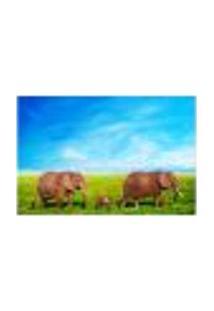 Painel Adesivo De Parede - Elefantes - 649Pnp