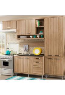 Cozinha Compacta 5 Peças 5838-S19- Sicília - Multimóveis - Argila Acetinado