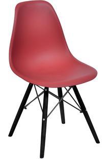 Cadeira Com Base Preta 1102-Or Design - Telha