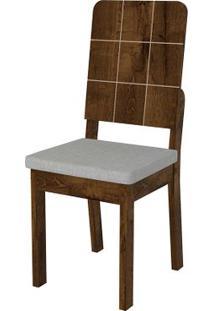 Cadeira Dama 2 Peças - Linho Claro - Rústico Malbec