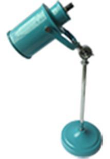Luminária De Mesa Urban Metal Factory Style 13X15X53Cm Azul