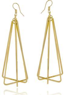 Brinco Le Diamond Triângulos Dourado