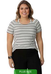 Blusa Feminina Plus Size, Branca