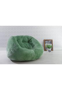 Puff Redondo Decorativo Cozy - Cor Verde - 120X110X70Cm