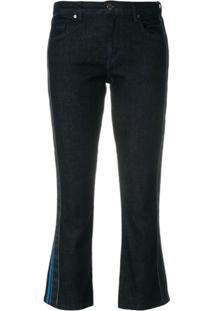 Victoria Victoria Beckham Calça Jeans Flare Cropped - Azul