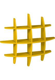 Prateleira Decorativa Média Taylor 598 Amarelo - Maxima