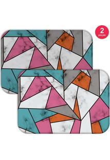Jogo Americano Love Decor Marble Texture Color Colorido
