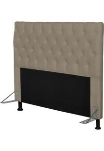 Cabeceira Cama Box Casal 160Cm Cristal Corino Areia - Js Móveis