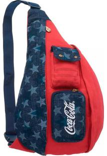 Bolsa Coca-Cola American Flag Vermelho/Azul T Un