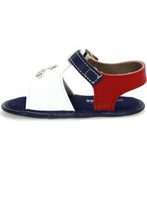 Sandália Fashion Azul E Branco Molekinho
