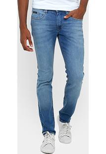 Calça Jeans Skinny Calvin Klein Estonada Elastano Masculina - Masculino
