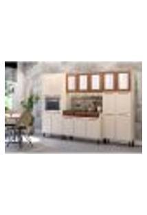 Cozinha Completa Vita 16 Pt 3 Gv Bege E Cobre