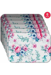 Jogo Americano Love Decor Wevans Floral Premium Kit Com 6 Pçs