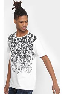 Camiseta Local Estampada Masculina - Masculino-Branco