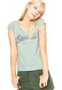 Camiseta Element Baby Look Balance Verde