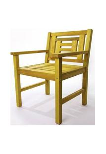 Poltrona De Madeira Echoes 1 Lugar Amarelo 61Cm - 61557 Amarelo