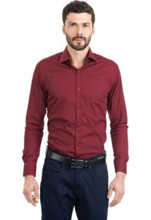 Camisa Di Sotti Silk Lisa Vinho - Masculino
