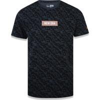 Camiseta New Era Fenda Lateral New Era Brasil Preto 114745eb2a34b