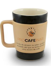 Caneca Coffe To Go-Procafeinar 300Ml-Mondoceram - Pardo