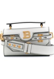 Balmain Bolsa B-Buzz 18 Baguette - Branco