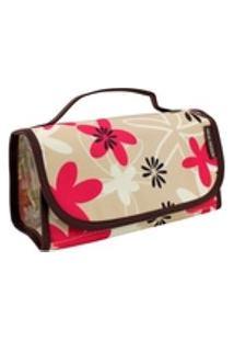 Necessaire Rocambole Estampada Floral Marrom Jack Design