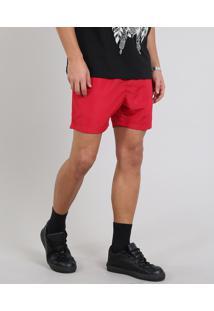 Short Masculino Com Bolso Vermelho