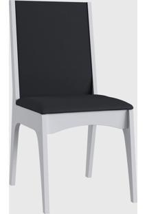 Cadeira Mdf Estofada (Envelopada) Par Branco Móveis Canção