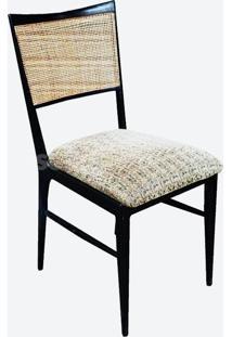 Cadeira Vk Linho Impermeabilizado Azul - Wk-Ast-34