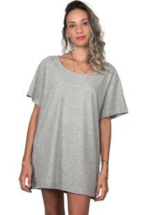 T-Shirt Fash Bies Oversized Cinza