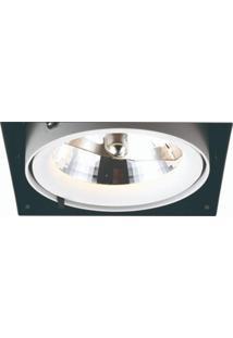 Spot Embutir De Alumínio Aro No Frame 12,3Cmx14,5Cmx14,5Cm Bella Iluminação Branco