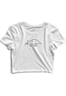 Camiseta Gatinho Not Today Feminina - Feminino