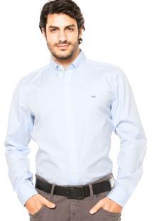 Camisa Lacoste Slim Azul