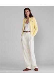 Cardigan Polo Ralph Lauren Liso Amarelo - Kanui