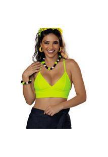 Sutiã Top Menthol Demillus 261811 Lemon Neon Verde