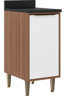 Armário De Cozinha 1 Porta 5423 Nogueira/Branco - Multimóveis