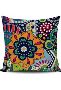 Capa Almofada Decorativa Estampa Floral 45X45Cm