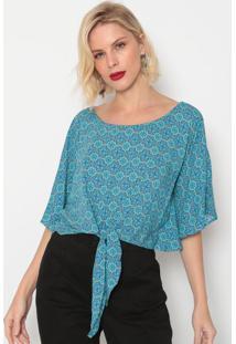 Blusa Arabesca- Azul & Azul Escuro- Morena Rosamorena Rosa