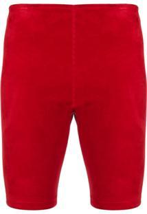 Manokhi Fitted Racing Shorts - Vermelho