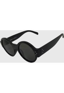 Oculos De Sol Feminino Redondo Volpz Londres Preto