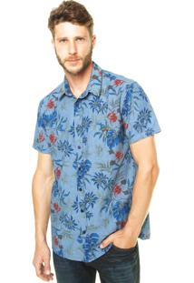 Camisa Sommer Florida Azul