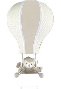 Abajur Balãozinho Cintura Urso Bege Quarto Bebê Infantil Menino - Kanui