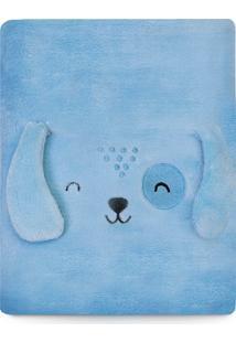 Cobertor Papi Microfibra Bichuus Azul - Kanui
